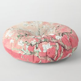 Van Gogh Almond Blossoms : Peach Floor Pillow