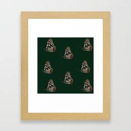 Forest Green Butterfly Print Framed Art Print