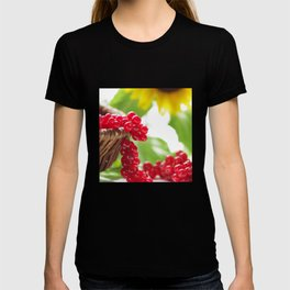 Red summer fruits image T-shirt
