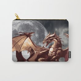 Mystical Dragon and Moon Fantasy Design Carry-All Pouch