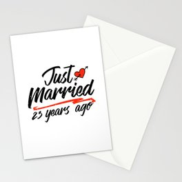 Just Married 23 Year Ago Funny Wedding Anniversary Gift for Couples. Novelty way to celebrate a Stationery Cards