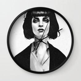 Mrs Mia Wallace Wall Clock