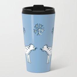 snow leopard pals Travel Mug