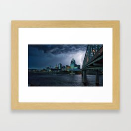 Lightning Strikes Framed Art Print