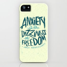 Kierkegaard on Anxiety iPhone Case