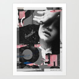 Know what my left is doing Art Print