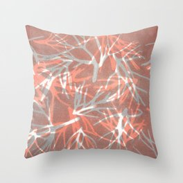 Coral Vision Throw Pillow