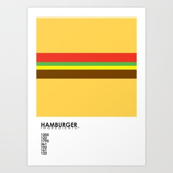 Pantone Food - Hamburger Art Print