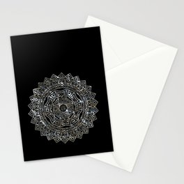 Aztec Mexican Silver Mandala Stationery Cards