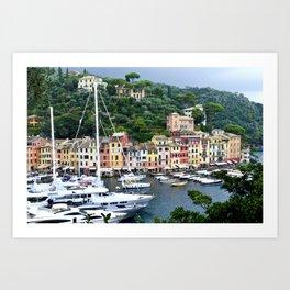 Portofino Harbour Italy Art Print
