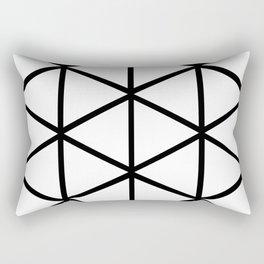 WHITE & BLACK TRIANGLES  Rectangular Pillow