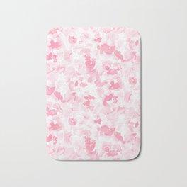Abstract Flora Millennial Pink Bath Mat