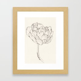 Diamond Tulip Framed Art Print