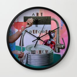 Art Before Dishes Wall Clock