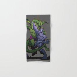 It The Living Colossus vs. Fin Fang Foom Hand & Bath Towel