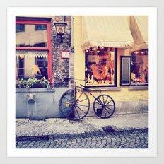 Por las calles de Brujas.. Art Print