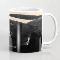 labrador Mugs featuring Labrador Happy by Jennifer Warmuth Art And Design