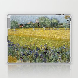 Field with flowers near Arles by Vincent van Gogh Laptop & iPad Skin