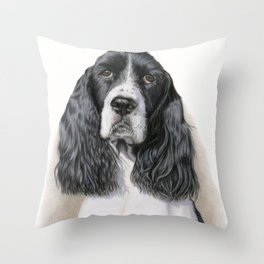 The Springer Spaniel Throw Pillow