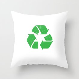 Create Less waste Throw Pillow