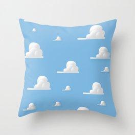 Cartoon Cloud Pattern Throw Pillow
