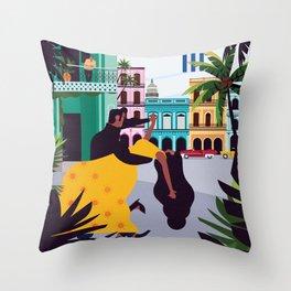 Havana ft. Salsa Dancers Throw Pillow