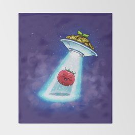 UFO Spaghetti Dreams Throw Blanket
