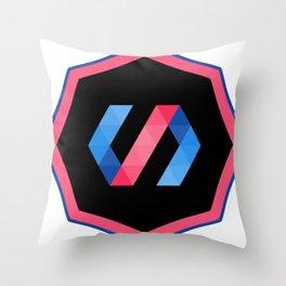 polymer javascript framework library  sticker polymerjs sticker Throw Pillow