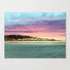 Sunset on the Village Canvas Print