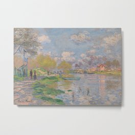 Spring by the Seine Metal Print