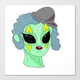 Clown Alien?? Canvas Print
