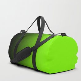 Black and Chartreuse Ombre Duffle Bag
