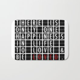 Destination Sign Love Bath Mat