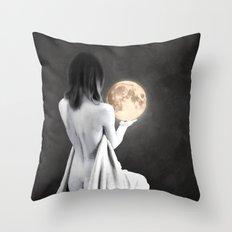 Moon Contemplation Throw Pillow