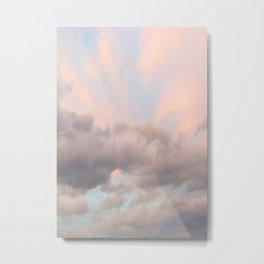 Milkshake Sky Metal Print