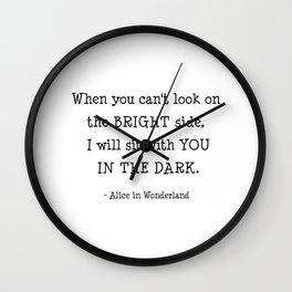 Alice in wonderland. Wall Clock