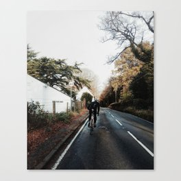 climbing the hill on road bike Canvas Print