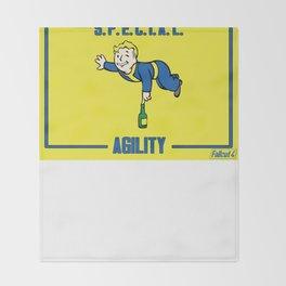 Agility S.P.E.C.I.A.L. Fallout 4 Throw Blanket