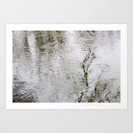 Rain Ripples Art Print