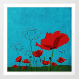 Flowers: Poppy Art Print