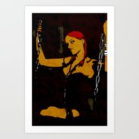 redhead Art Prints featuring Redhead by Sandra Höfer