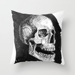 Skull # 2 Throw Pillow