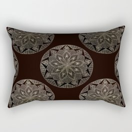Maroon Mandala Pattern Rectangular Pillow