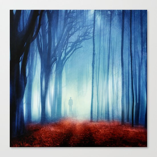 In The Mist she Was Standing Canvas Print