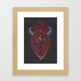 Bison Totem Framed Art Print