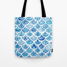 AZTEC MERMAID Tribal Scallop Pattern Tote Bag