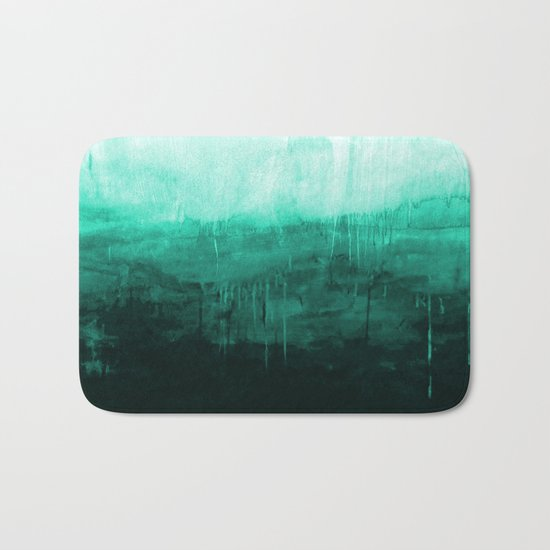Paint 8 abstract minimal modern water ocean wave painting must have canvas affordable fine art Bath Mat