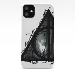 Deathly Hallows - Prongs in the forest with brenches | Marauders - Potterhead - Patronus iPhone Case