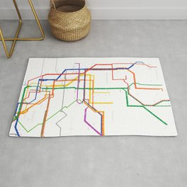 New York City subway map Rug