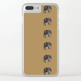 Zebra Elephant Safari Clear iPhone Case